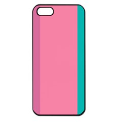 Pink Blue Three Color Apple Iphone 5 Seamless Case (black) by AnjaniArt