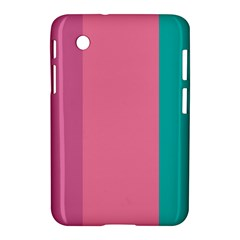Pink Blue Three Color Samsung Galaxy Tab 2 (7 ) P3100 Hardshell Case  by AnjaniArt