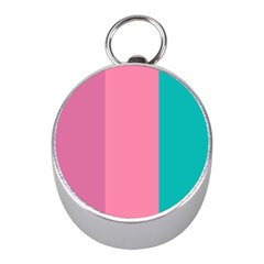 Pink Blue Three Color Mini Silver Compasses by AnjaniArt