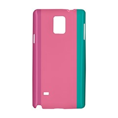 Pink Blue Three Color Samsung Galaxy Note 4 Hardshell Case by AnjaniArt