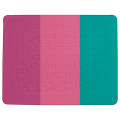Pink Blue Three Color Jigsaw Puzzle Photo Stand (Rectangular) by AnjaniArt