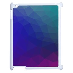 Polyart Dark Blue Purple Pattern Apple Ipad 2 Case (white) by AnjaniArt