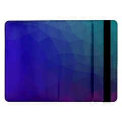 Polyart Dark Blue Purple Pattern Samsung Galaxy Tab Pro 12.2  Flip Case by AnjaniArt