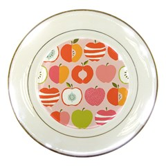 Pink Delicious Organic Canvas Porcelain Plates by AnjaniArt