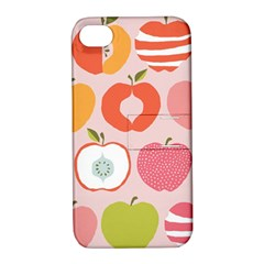 Pink Delicious Organic Canvas Apple Iphone 4/4s Hardshell Case With Stand by AnjaniArt