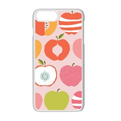 Pink Delicious Organic Canvas Apple Iphone 7 Plus White Seamless Case by AnjaniArt