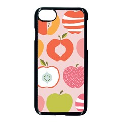 Pink Delicious Organic Canvas Apple Iphone 7 Seamless Case (black)