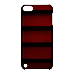 Line Red Black Apple Ipod Touch 5 Hardshell Case With Stand by AnjaniArt