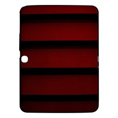 Line Red Black Samsung Galaxy Tab 3 (10 1 ) P5200 Hardshell Case  by AnjaniArt