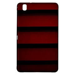 Line Red Black Samsung Galaxy Tab Pro 8 4 Hardshell Case by AnjaniArt