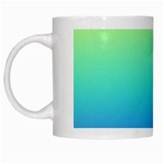 Purple Blue Green White Mugs