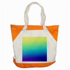 Purple Blue Green Accent Tote Bag by AnjaniArt