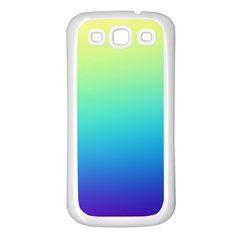 Purple Blue Green Samsung Galaxy S3 Back Case (white) by AnjaniArt