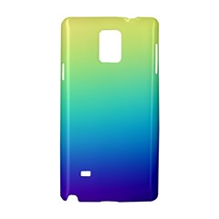 Purple Blue Green Samsung Galaxy Note 4 Hardshell Case by AnjaniArt