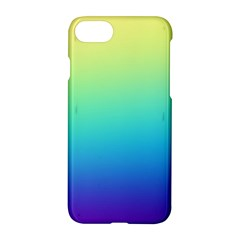 Purple Blue Green Apple iPhone 7 Hardshell Case by AnjaniArt