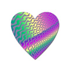 Line Colour Wiggles Heart Magnet by AnjaniArt