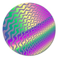 Line Colour Wiggles Magnet 5  (round) by AnjaniArt