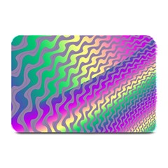 Line Colour Wiggles Plate Mats by AnjaniArt