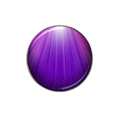 Purple Colors Fullcolor Hat Clip Ball Marker (4 Pack) by AnjaniArt