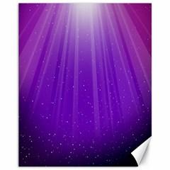 Purple Colors Fullcolor Canvas 11  X 14   by AnjaniArt