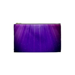Purple Colors Fullcolor Cosmetic Bag (small)  by AnjaniArt