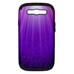 Purple Colors Fullcolor Samsung Galaxy S Iii Hardshell Case (pc+silicone) by AnjaniArt