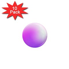 Purple White Background Bright Spots 1  Mini Magnet (10 Pack)  by AnjaniArt