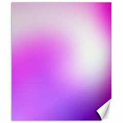 Purple White Background Bright Spots Canvas 8  X 10  by AnjaniArt