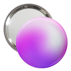 Purple White Background Bright Spots 3  Handbag Mirrors