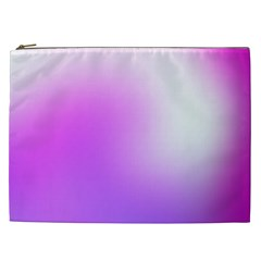Purple White Background Bright Spots Cosmetic Bag (xxl)  by AnjaniArt