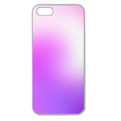 Purple White Background Bright Spots Apple Seamless Iphone 5 Case (clear) by AnjaniArt
