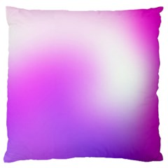 Purple White Background Bright Spots Large Flano Cushion Case (two Sides) by AnjaniArt