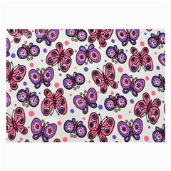 Pink Purple Butterfly Large Glasses Cloth by AnjaniArt
