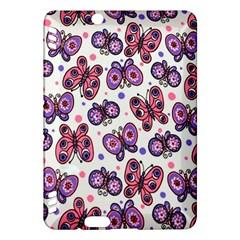 Pink Purple Butterfly Kindle Fire Hdx Hardshell Case by AnjaniArt