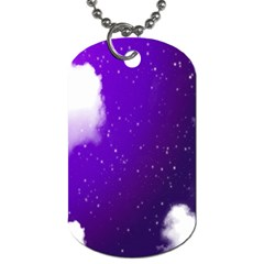 Purple Cloud Dog Tag (one Side) by AnjaniArt