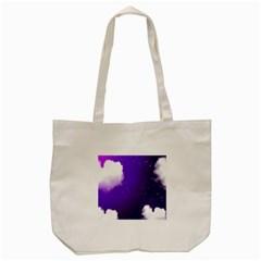 Purple Cloud Tote Bag (cream)