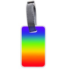 Rainbow Blue Green Pink Orange Luggage Tags (two Sides) by AnjaniArt