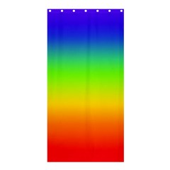 Rainbow Blue Green Pink Orange Shower Curtain 36  X 72  (stall)  by AnjaniArt