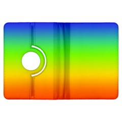 Rainbow Blue Green Pink Orange Kindle Fire Hdx Flip 360 Case by AnjaniArt