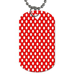 Red Circular Pattern Dog Tag (two Sides) by AnjaniArt