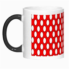 Red Circular Pattern Morph Mugs by AnjaniArt