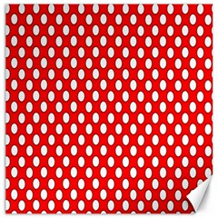 Red Circular Pattern Canvas 12  X 12   by AnjaniArt