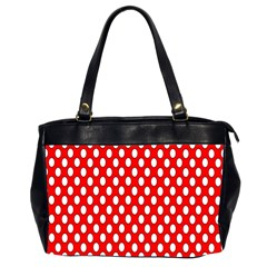 Red Circular Pattern Office Handbags (2 Sides)  by AnjaniArt
