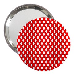 Red Circular Pattern 3  Handbag Mirrors by AnjaniArt
