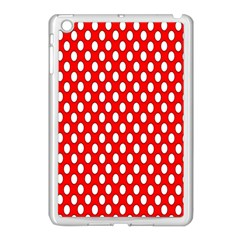 Red Circular Pattern Apple Ipad Mini Case (white) by AnjaniArt