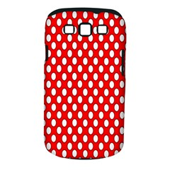 Red Circular Pattern Samsung Galaxy S Iii Classic Hardshell Case (pc+silicone) by AnjaniArt