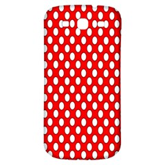 Red Circular Pattern Samsung Galaxy S3 S Iii Classic Hardshell Back Case by AnjaniArt