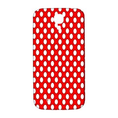 Red Circular Pattern Samsung Galaxy S4 I9500/i9505  Hardshell Back Case by AnjaniArt