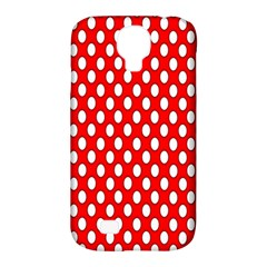 Red Circular Pattern Samsung Galaxy S4 Classic Hardshell Case (pc+silicone) by AnjaniArt