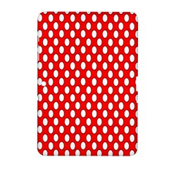 Red Circular Pattern Samsung Galaxy Tab 2 (10 1 ) P5100 Hardshell Case  by AnjaniArt